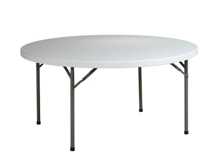 Office Star Resin Multipurpose Round Table, 60-Inch