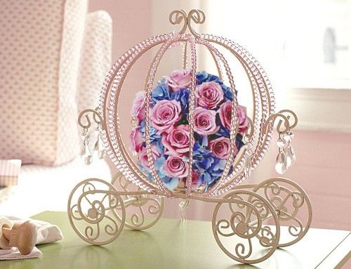 Disney Cinderella coach centerpiece idea.