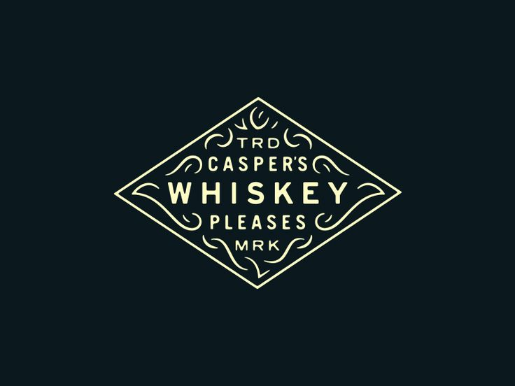 Casper's Whiskey by Adam Dixon #Design Popular #Dribbble #shots