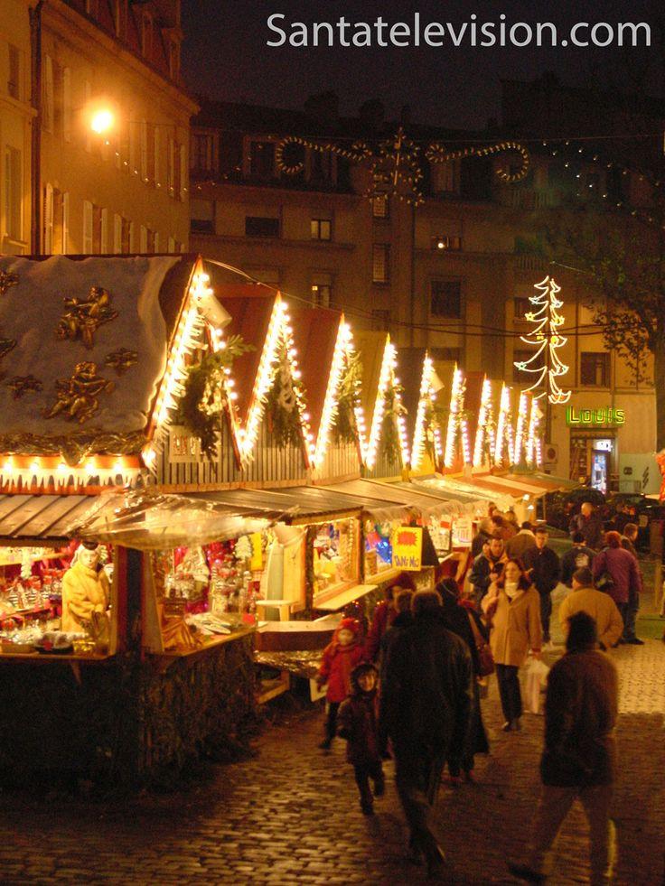 Рождественская ярмарка в городе Мец во Франции