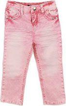 Pink acid washed jeans