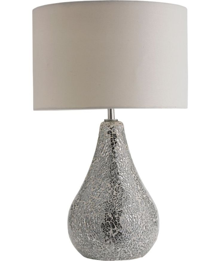 Buy Heart of House Crackle Mirror Finish Table Lamp - Silver at Argos.co.uk - Your Online Shop for Table lamps. #ArgosRoomInspiration