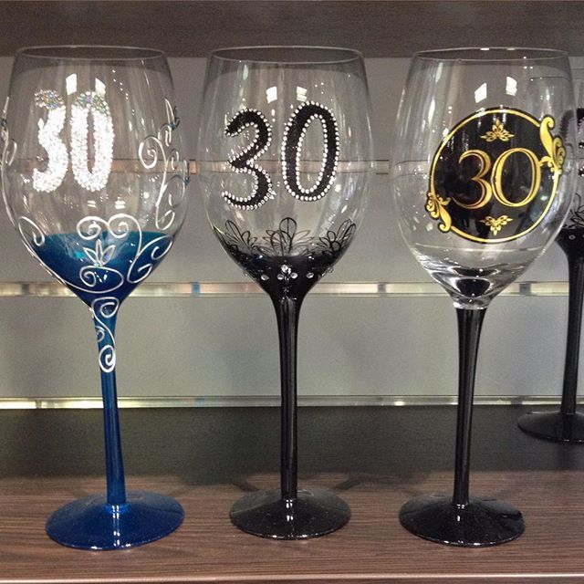 Special occasion wine glasses #turning30 #wineglasses #specialoccasion #instorenow