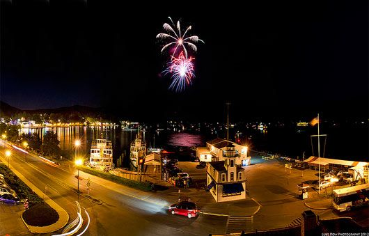 Fireworks erupt over beautiful Lake George, check this out to find out all about upcoming local firework shows!