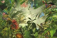 Green Rainforest desig non-woven wall mural wallpaper for bedroon living room HQ
