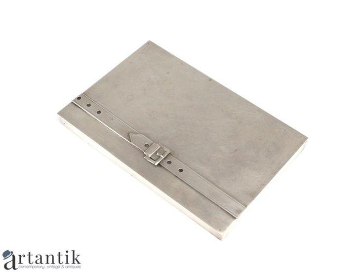 Elegantă plumieră, Art Deco. metal argintat, Elegant pencil box, Art Deco, silver metal