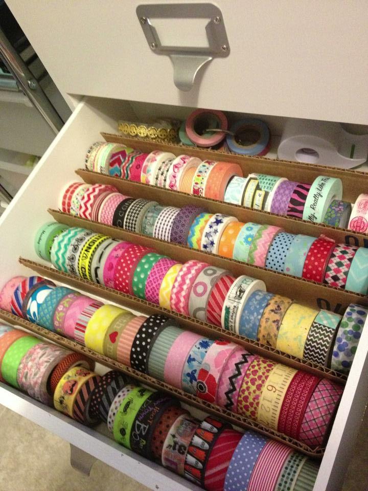 Cheap and easy! papercraft #crafting supply #organization - #washitape storage