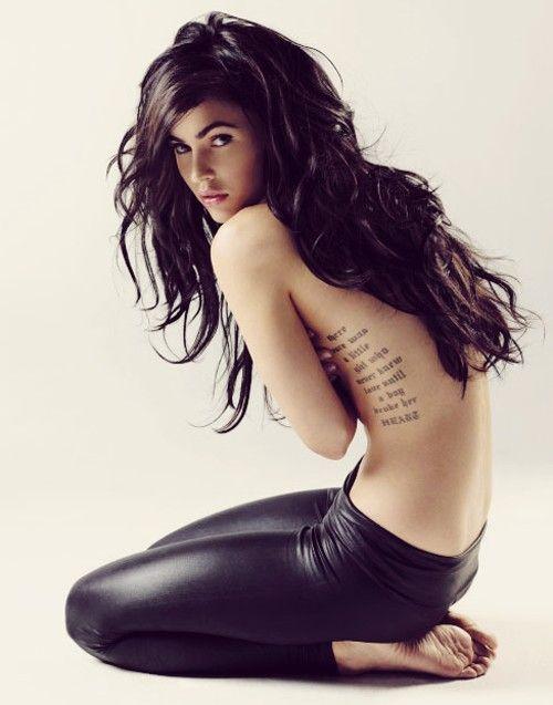 i pinned it for the tatt.....: Megan Fox, Girl, Meganfox, Tattoo Placement, Tattoos, Tattoo'S, Foxes, Hair