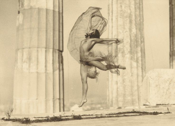 Nelly's (Elli Seraidari), 'Nicolsca' Dancing in The Parthenon, 1929, vintage silver print