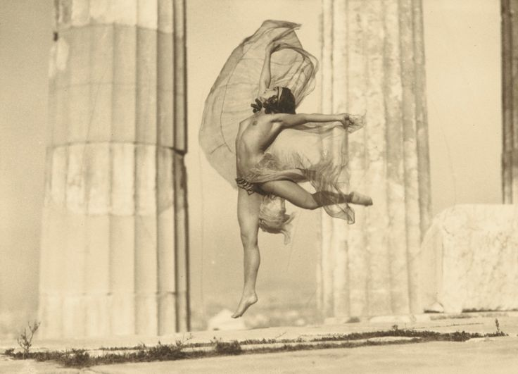 Nelly's (Elli Seraidari), 'Nicolsca' Dancing in The Parthenon, 1929, vintage silver print