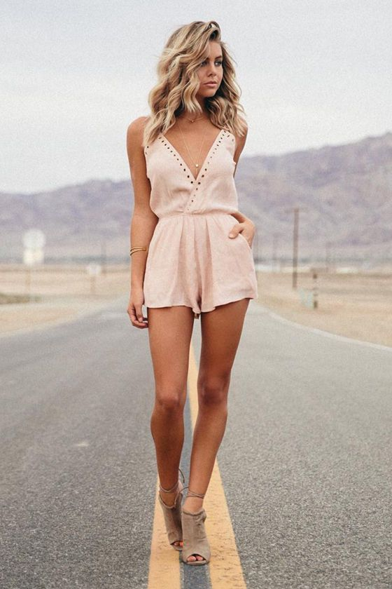 Lulus - Second Look Blush Pink Romper