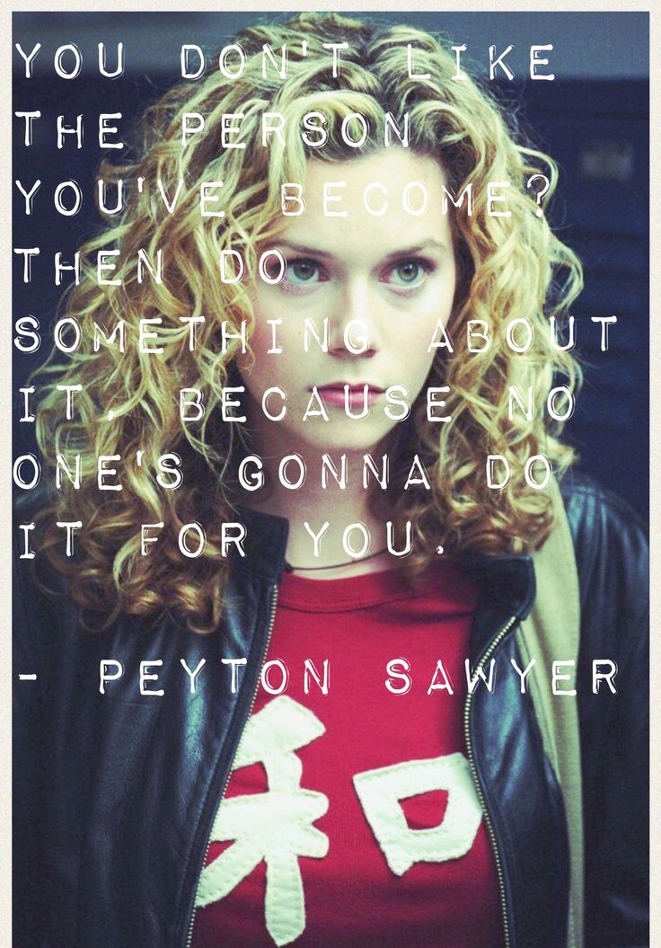 One Tree Hill - Peyton Sawyer