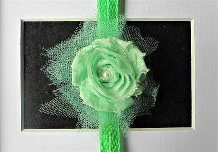 Gorgeous Green - Toddler/Girl Stretch headband madeit.com.au/moobearcreations