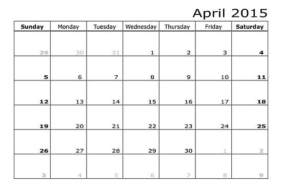 Check out April 2015 Calendar Pdf, Doc, Excel, Word, Printable Template, Images. Download 2015 April Calendar With Holidays UK, USA, Canada, Philippians.