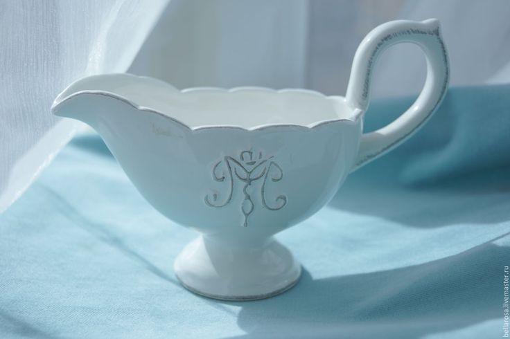 Купить Соусник. Керамика. - белый, кашпо, Керамика, соусник, кувшин, ваза, керамика, соусник, винтаж