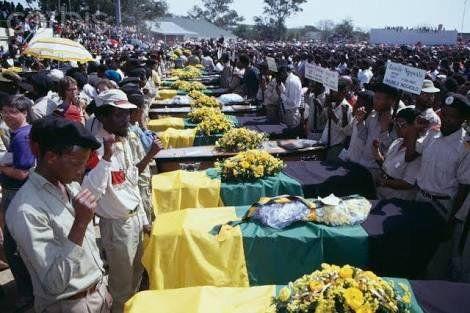 Bisho massacre funerals, 1992.