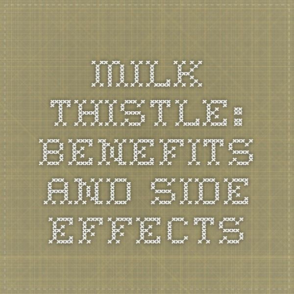 Milk Thistle: Benefits and Side Effects