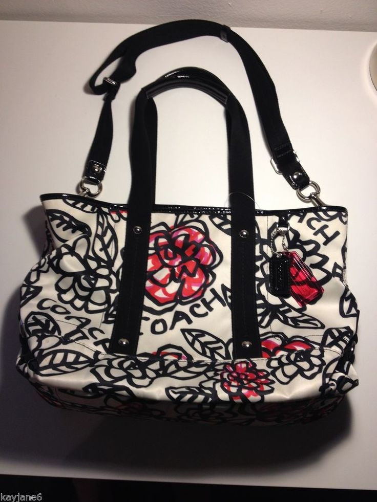Coach poppy purse graffiti coach poppy daisy floral graffiti shoulder handbag tote purse f16583 rare coach poppy shoulder handbags mightylinksfo