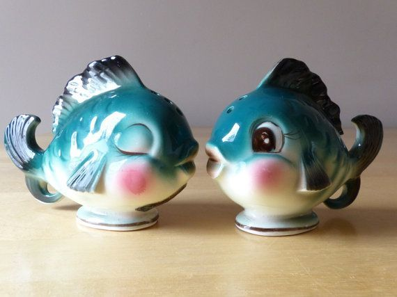 Image result for vintage fish salt and pepper shakers