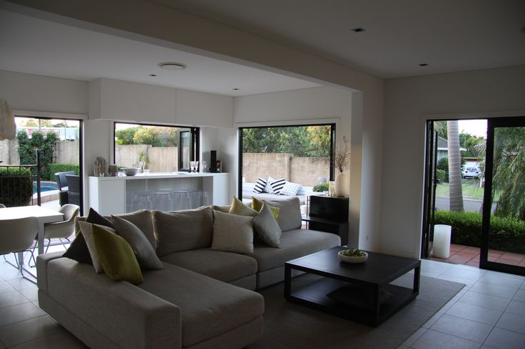 A living room renovation constructed by Matthew Campbell for KMH Projects at a property in Beverley Park, Sydney.