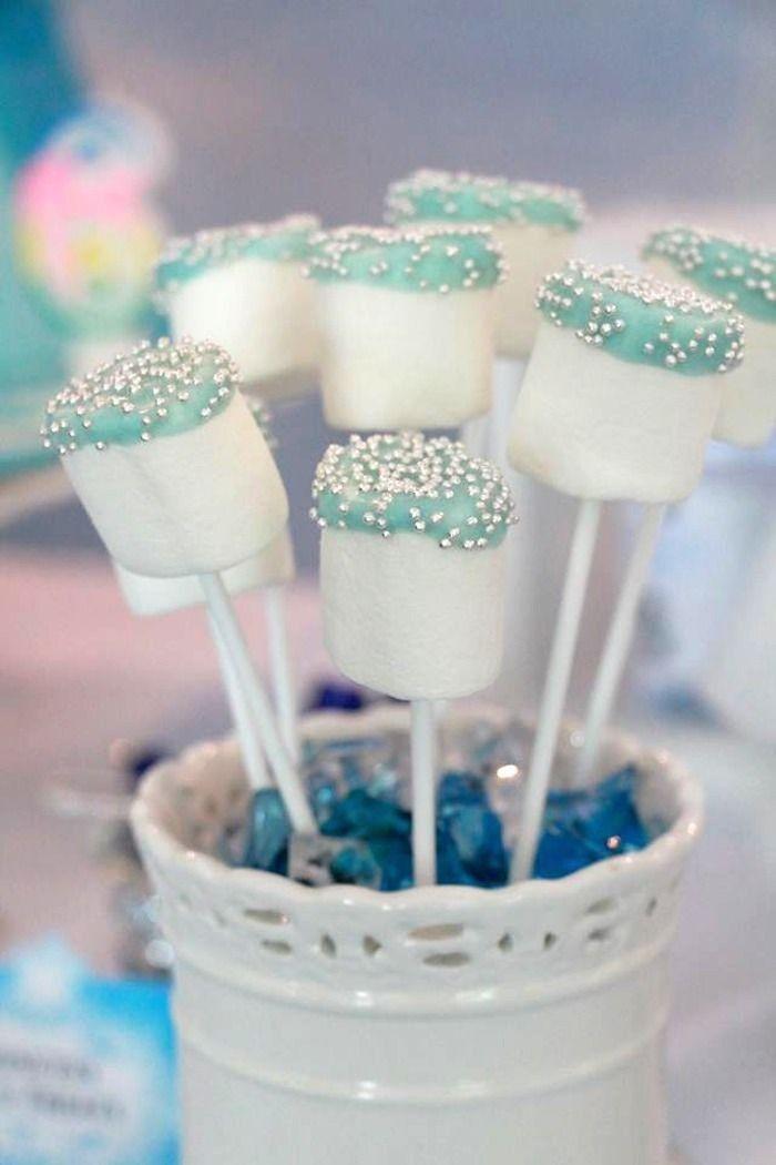 2014 frozen marshmallow pop candy - disney, Halloween, party ideas