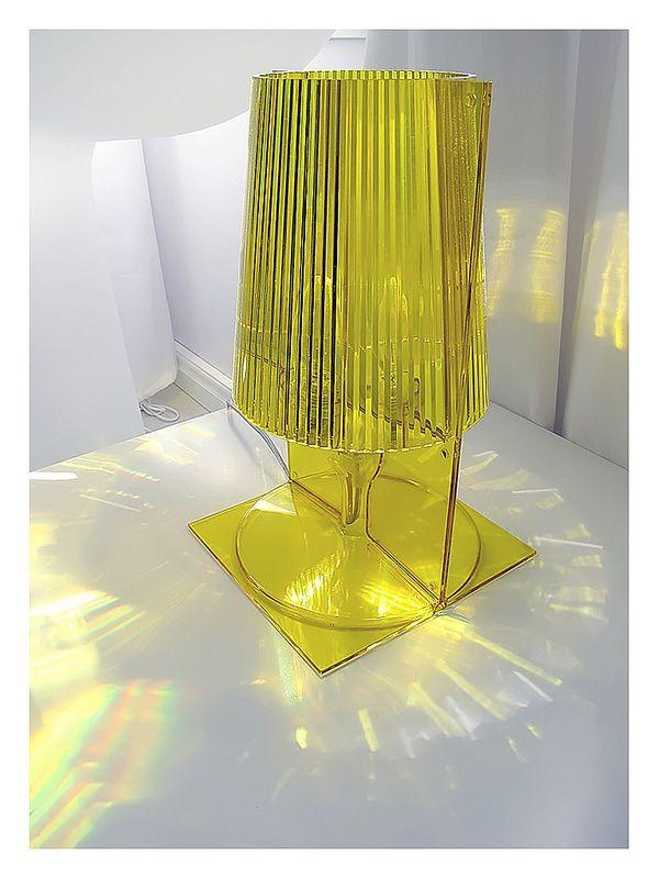 Kartell Take lamp. Transparent yellow. Design Ferruccio Laviani 2002.