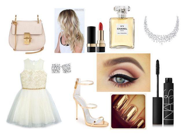 """stuff"" by maddythiiel ❤ liked on Polyvore featuring Chloé, Giuseppe Zanotti, David Charles, Dolce&Gabbana, NARS Cosmetics and Chanel"