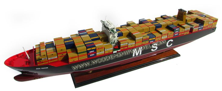 MSC Oscar Container ship model ready for display