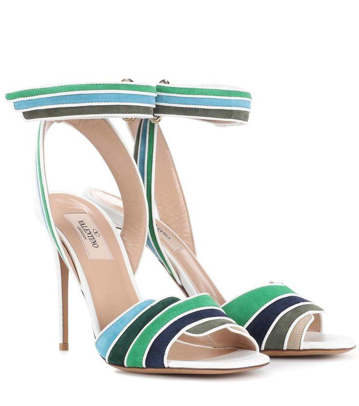 VALENTINO  Valentino Garavani Rainbow 105 suede sandals  $ 1,045