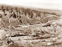 The Sullivan Mine was located in Kimberley, BC, Canada; Lead, zinc, silver and tin were the economic metals produced. Discovered in 1892. Acquired in 1909 by CPR-owned Consolidated Mining and Smelting Company of Canada (later Cominco Ltd./Teck Cominco). In its lifetime, the mine produced ore containing over 17 million tons of zinc and lead and more than 285 million troy ounces of silver, which were together worth more than $20 billion. The Sullivan Mine was closed in 2001 after 92 years.
