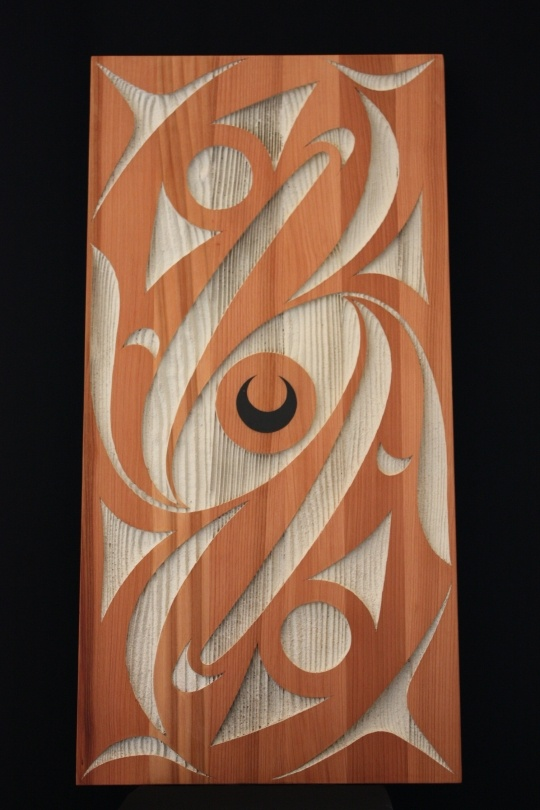 Red Cedar Panel by Dylan Thomas from Coast Salish. Northwest coast & First Nations fine art at Ahtsik Native Art Gallery.