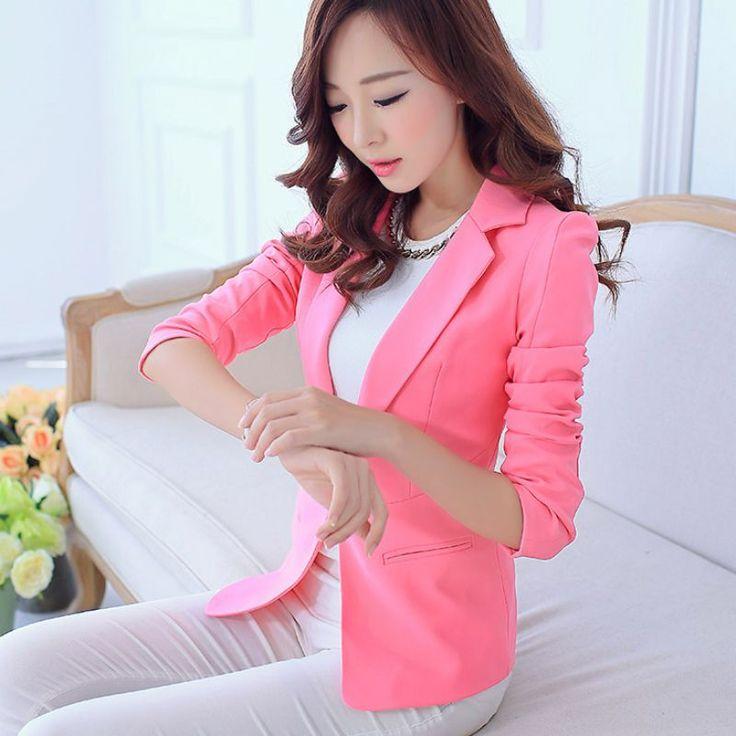 Soft Spring Autumn Suit Women Blazers And Jackets Blaser Female Ladies Office Work Pink Blazer Femma Coat Outwear