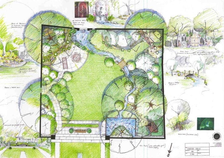595 best images about zahradn pl ny on pinterest trees for Garden landscape drawing