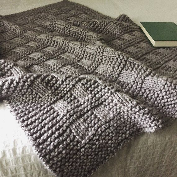 Blanket KNITTING PATTERN / Westport Blanket / Throw / Afghan /