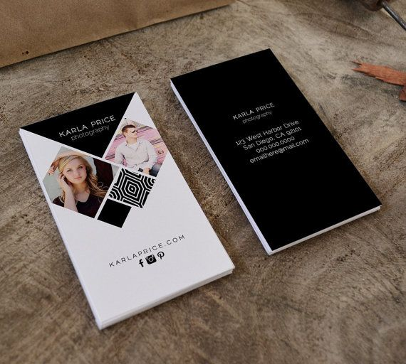 Karla double sided photography business card  Instant by Deidamiah
