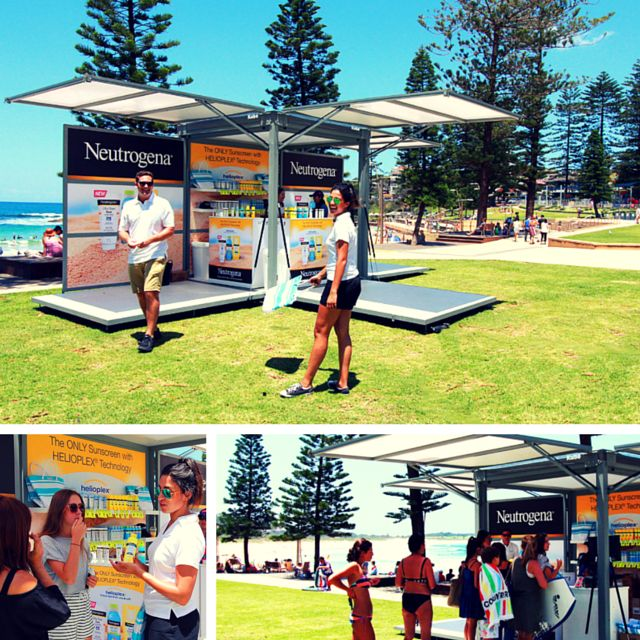 The mobile #branding activation unit, #TheKube, has a weather-resistant design and lockable frame, making it perfect for various outdoor events. Check out howJ&J Pacificused it for a beachfront Neutrogena brand space!