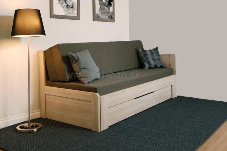 Rozkladacia posteľ Tandem plus s jednou podrúčkou