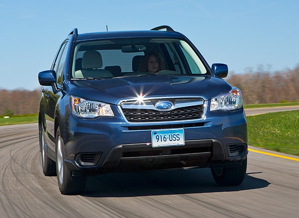 In Consumer Report's guide to best small SUVs, the 2014 Subaru Forester gets top marks