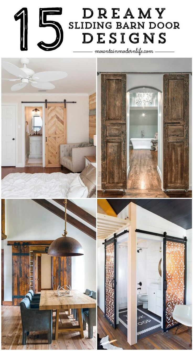 15 Dreamy Sliding Barn Door Designs that are sure to inspire! MountainModernLife.com