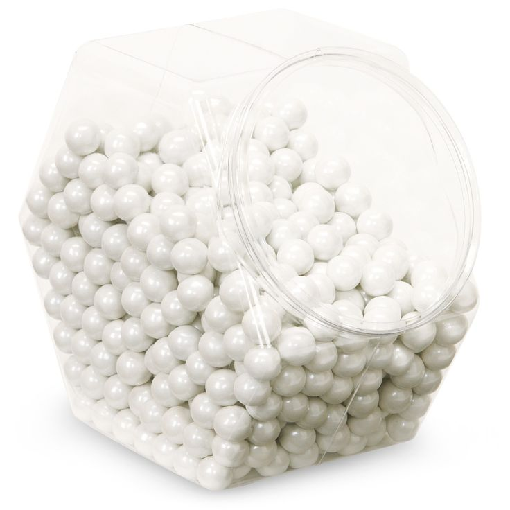 "Shimmer White Sixlets candy - ""Pearls"""
