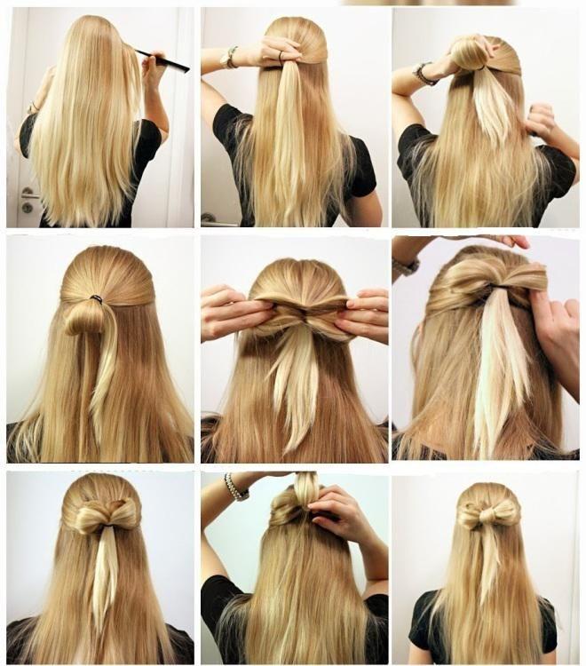 Jolies idées de coiffures rapides pour les filles aux cheveux longs                                                                                                                                                                                 Plus
