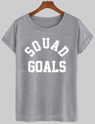 squad goals shirt #tshirt #shirt #graphic shirt #funny shirt