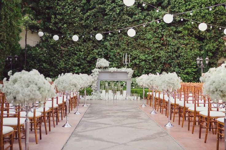 17 best images about ceremony decor on pinterest plan for Simple outdoor wedding ceremony ideas