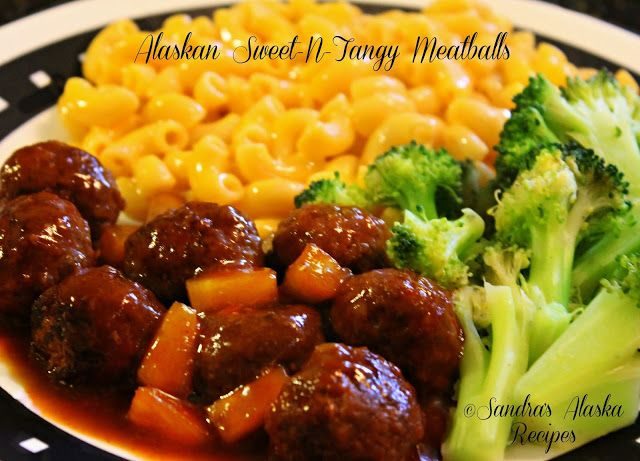 Sandra's Alaska Recipes: SANDRA'S ALASKAN SWEET-N-TANGY MEATBALLS [Click image for recipe...]