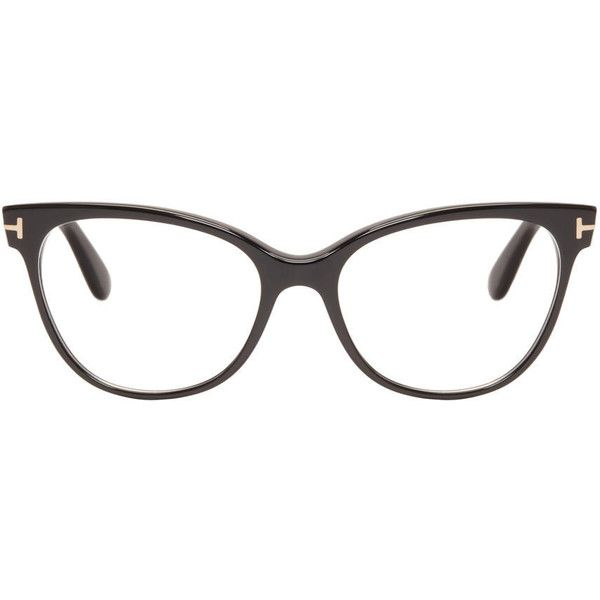 Tom Ford Black TF5291 Cat-Eye Optical Glasses (7,585 MXN) ❤ liked on Polyvore featuring accessories, eyewear, eyeglasses, cat-eye glasses, tom ford, cat eye eyeglasses, tom ford eye glasses and tom ford eyeglasses