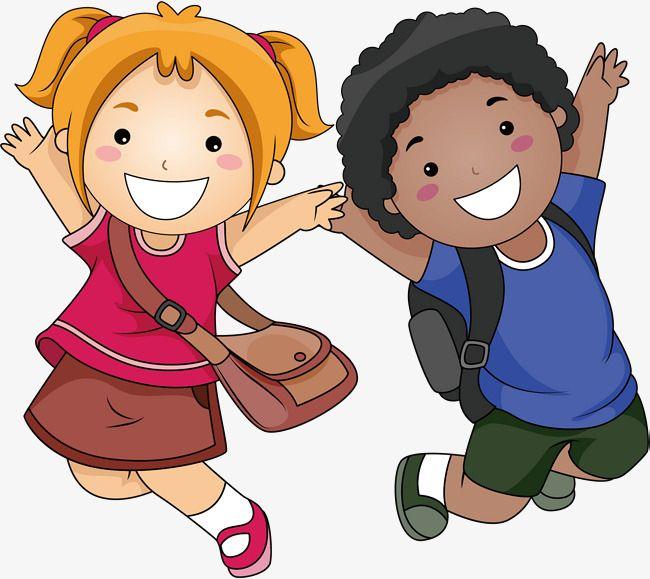 يذهب الأطفال إلى المدرسة طلاب مادة زميل العناصر مادة الأطفال Png وملف Psd للتحميل مجانا Kids Clipart Clip Art Cartoon
