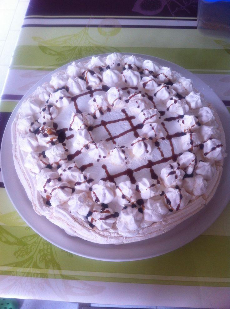 Torta meringa al caffe