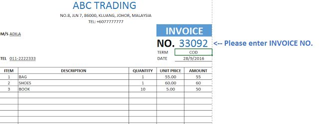 Latest Updates Downlaod Invoice Template Database Dalam Microsoft