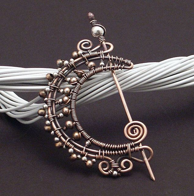 Reworked Copper Moon Brooch by MaryTucker, via Flickr