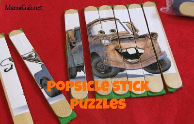 EASY DIY puzzles- change it to your childs favorite show or story.